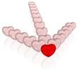 Pfeil aus Herzen - Liebe, Zuversicht