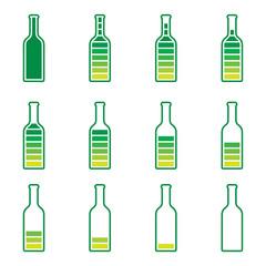 Bottle Preloader - color bottle, full and empty