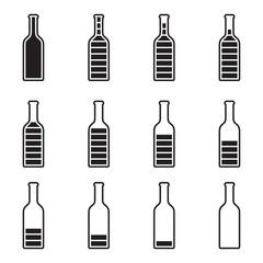 Bottle Preloader - black and white bottle, full and empty