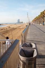 Barcelona embankment, Spain.