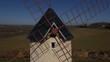 Moulin a vent vue aérienne