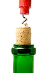 corkscrew and cork