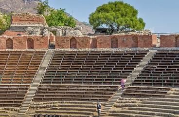 Greek theater in Taormina,Sicily ,Italy.