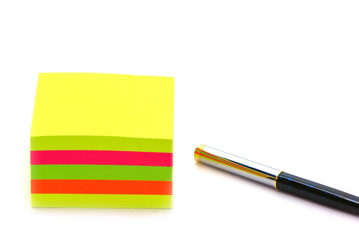 Post it and pen