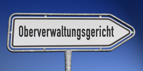 Richtungsschild Oberverwaltungsgericht