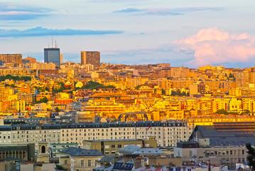 Sunset color over Paris