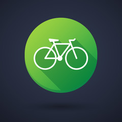 Long shadow icon with a bicycle