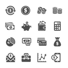 money icon set, vector eps10
