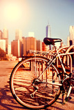Fototapety Bicycle and Manhattan view