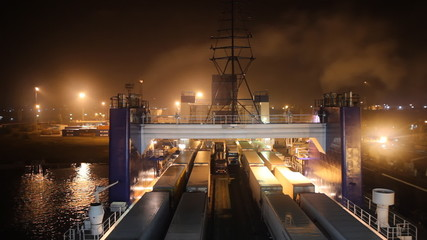 cargo-passenger ferry ready to sail