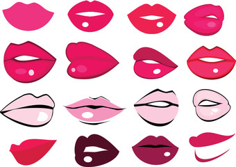 Cute fun pink lips shape collection