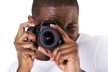 Black photographer doing photos