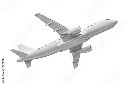 canvas print picture Airplane isolated on a white background