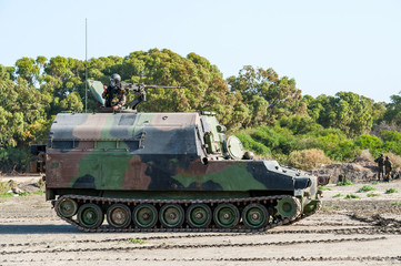 Amphibious Vehicle on Nato Military Training Exercises in Spain