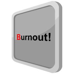 Burnout auf Metallschild