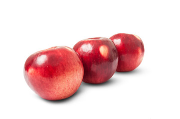 Shiny red autumn apples