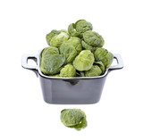 brussels sprouts compromised in a porcelain vessel isolated poster