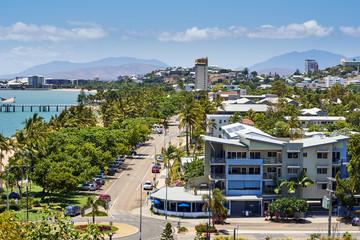 Tropical city bird view