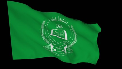 Flag animation with alpha - Jamiat-e Islami