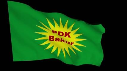 Flag animation with alpha - Kurdistan Democratic Party/North