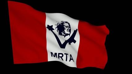 Flag animation with alpha - Túpac Amaru Revolutionary Movement