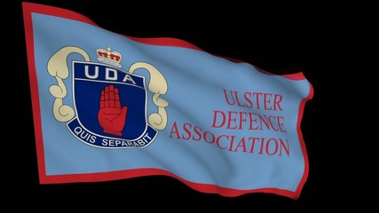 Flag animation with alpha - Ulster Defence Association