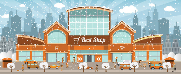 Shopping in the city (Winter)
