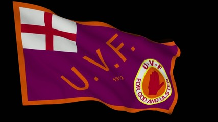 Flag animation with alpha - Ulster Volunteer Force