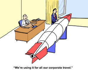 """We're using it for all our corporate travel."""