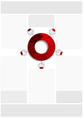 Circle Puzzle 05 - Red - ex