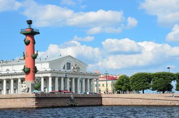 Вид на стрелку Васильевского острова, Санкт-Петербург