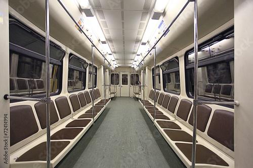 train inside the empty car - 72414994