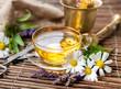 Leinwanddruck Bild - Cup of herbal tea