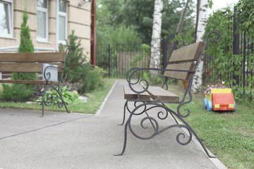 summer yard bench