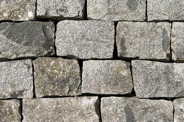 Wall of Grey Granite