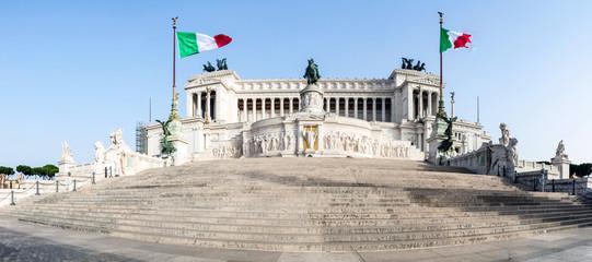 Famous Italian monument Vittorio Emanuele II in Rome