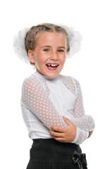 Portrait of a happy schoolgirl