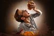 Leinwandbild Motiv Junk Food