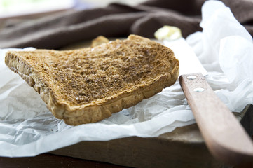 prepare toast for breakfast