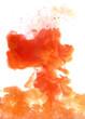 Orange cloud of ink - 72418582