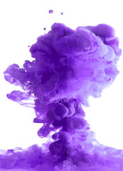 Violet cloud of ink