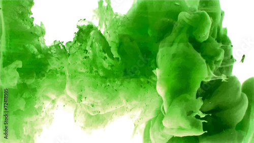 Green cloud of ink - 72418505
