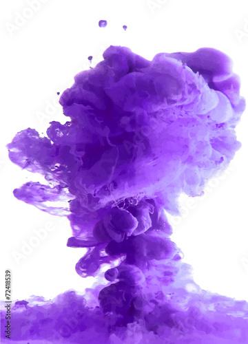 Foto op Plexiglas Rook Violet cloud of ink