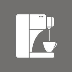 Icono cafetera moderna FO
