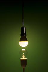 New LED technology versus old-fashioned tungsten