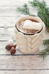 knitted mug of coffee