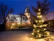 Weihnachtliche Kirche - 72419994