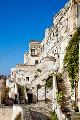 Matera, old houses in sasso barisano