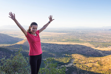 Girl on hill top