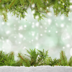 winter or christmas background